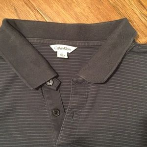 Calvin Klein grey polo shirt
